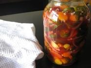 Pickled Carrots and Jalapenos